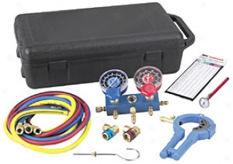 R-134a Manifold Kit With Hoses And Case