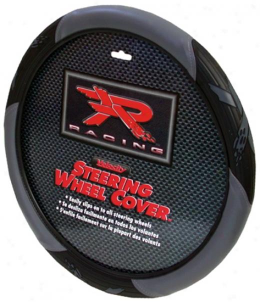 R Racing Gray Steering Wheel Cover