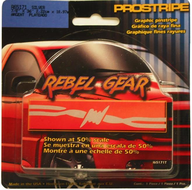 Revolt Gear 7/8'' X 36' Silver Pinstripe By Prostripe