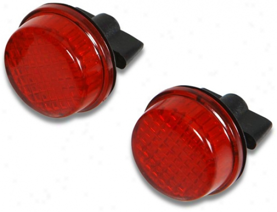 Red License Plate Reflectors
