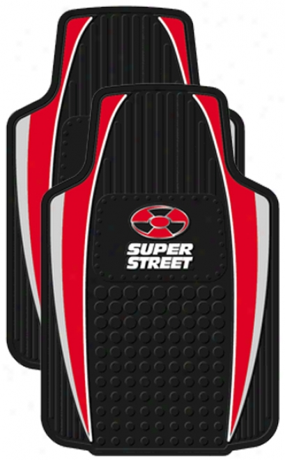 Red Super Street Floor Mat (Yoke)
