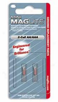 Replacement Mini-mag? Aa Bulbs - 2 Pack