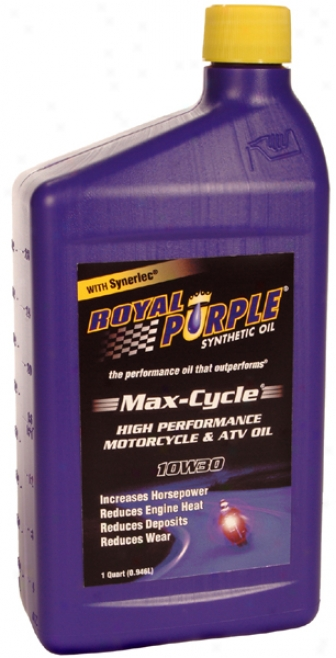 Royal Purpke 10w30 Max-cycle Motorcycle & Atv Motor Oil (1 Qt.)
