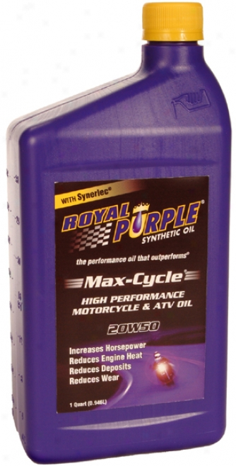 Royal Purple 20w50 Max-cycle Motorcycle & Atv Motor Oil (1 Qt.)