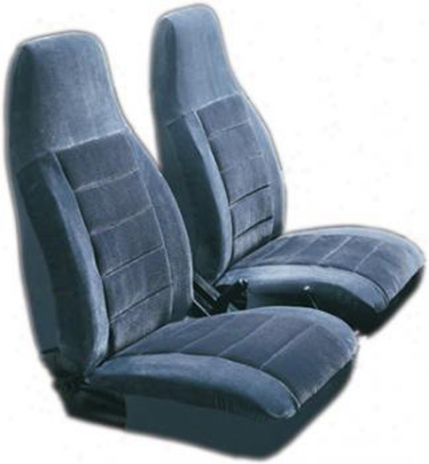Royal Velvet Blue High-back Bucket Seat Covers