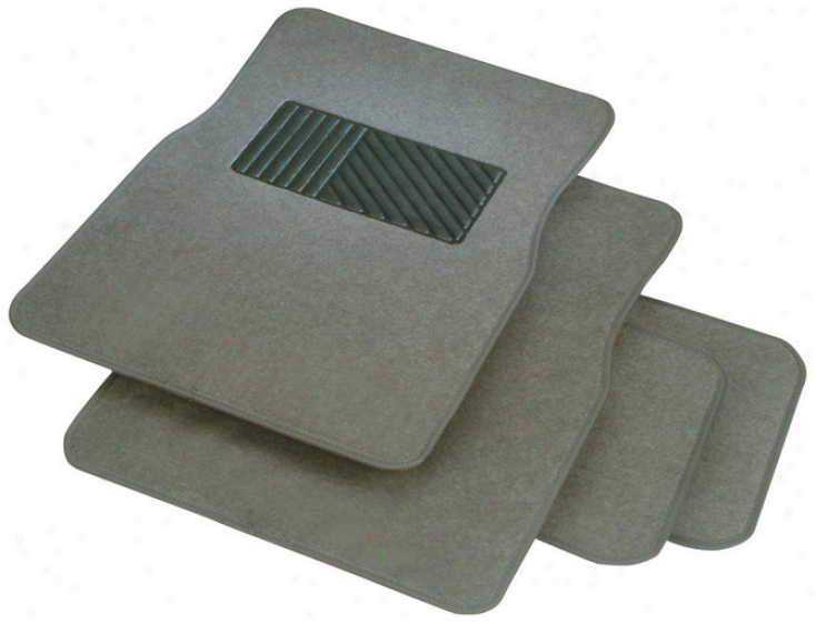 Rubber Queen Carpeted 4-piece Mat Set W/ Heel Pad