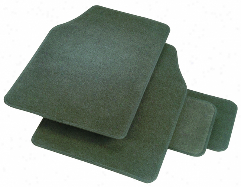 Rubber Queen Carpeted 4-piece Mat Set