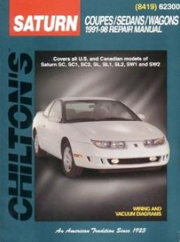 Saturn Coupes/sedans/wagons (1991-02) Chilton Manual