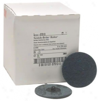 Sc0tch-brite Roloc Surface Conditioning Discs - 3'' Coarse/brown 25-pack
