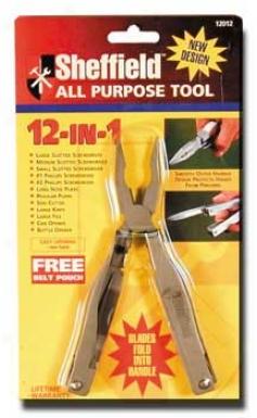 Sheffield 12 In 1 All Purpose Tool, Satin Finish