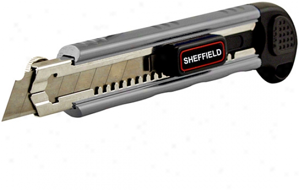 Sheffield 18mm Sure Grasp Snap Off Utility Knife