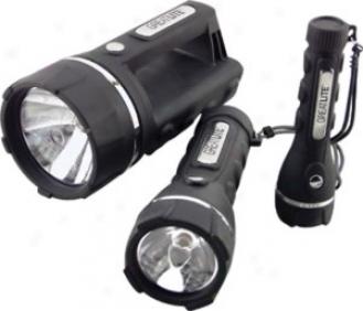 Sheffield Greatlite Heavy Duty Rubber Grip Flashlight Combo