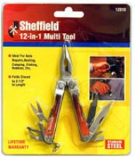 Sheffield Mini 12 In 1 All Purpose Tool, Unsullied Steel