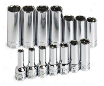 Sk Hireling 14 Piece 3/8'' Drive 6 Point Deep Metric Socket Set
