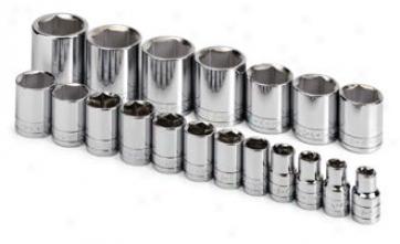 Sk Tool 19 Piece 1/2'' Drive 6 Point Standadd Fractionap Socket Set