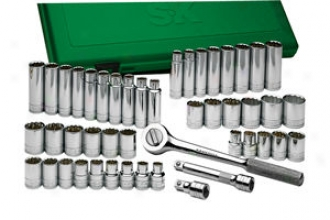 Sk Instrument 47 Piece 1/2'' Drive 12 Point Fractional & Metric Socket Set