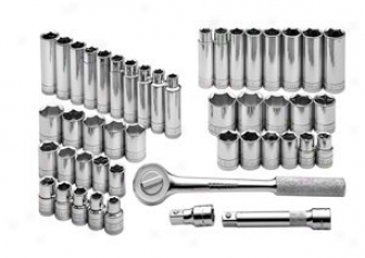 Sk Tool 47 Piece 1/2'' Drive 6 Point Fractional/metric Socket Superset