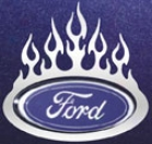 Small 3'' Ford Oval Tribal Ardor Trim