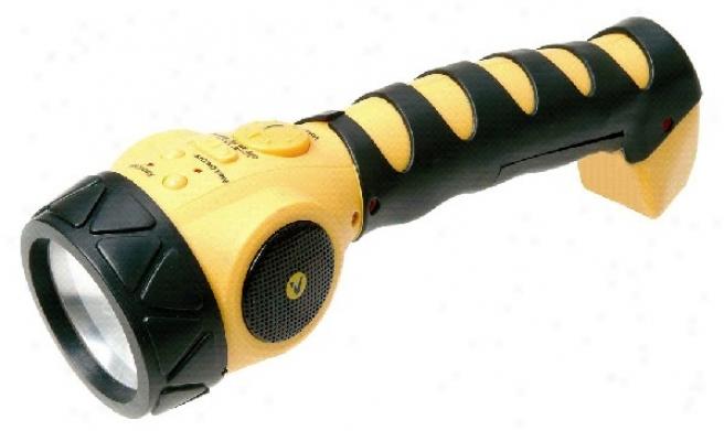 Small Dynamo Flashlight With Handiwork Crank Back-up Power