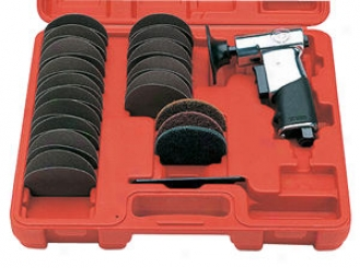 Smary Mini Air Disc Sander/surface Prep Kit - 3''