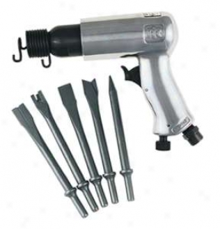 Ensign Duty Air Hammer With 5 Pc. Chisel Set