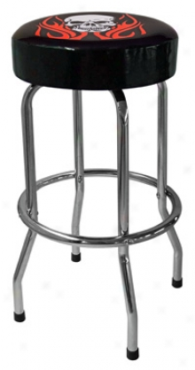 Standard Single Foot Ring Garage Stools With Custom Art And Graphisf