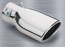 Superior 4'' Stainless Steel Slant Cut, Oval Bolt-n Exhaust Tip