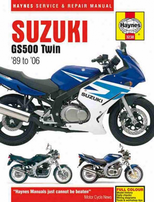 Suzuki Gs500 Twin Haynes Retrieve Of the hand (1989 - 2006)