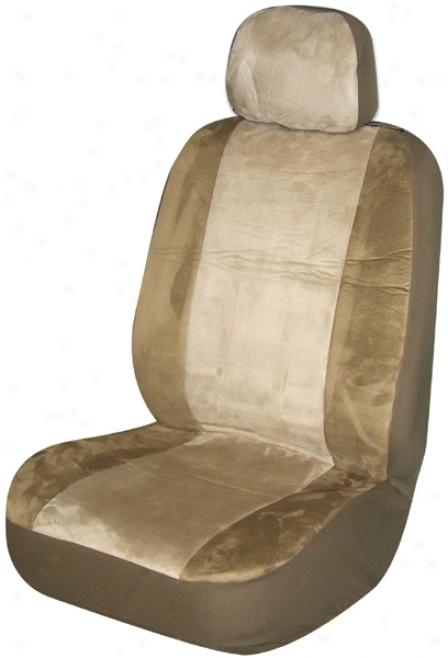 Tan Memory Foam Low-back Bucket Seat Cover