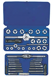Tap And Die Attitude - Frractional #4 To 1/2 Inch, 41 Pc.
