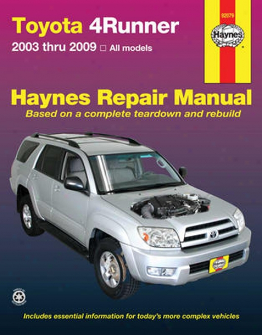 Toyota 4runner Haynes Repair Manual (2003 - 2009 )