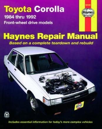 Toyota Corolla Haynes Repair Manual (1984-1992)