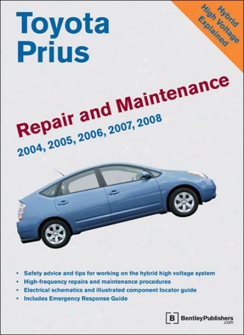 Toyota Prius Repair And Maintenance Of the hand: 2004 - 2008