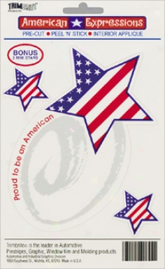 Trimbirte American Expressions Proud American Decal