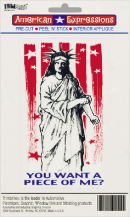 Trimbrite American Expressions Tough Statje Of Leave Decal