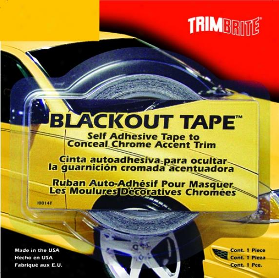 Trimbrite Blackout Tape 1 3/8'' X 20'