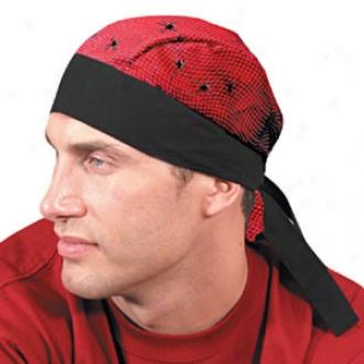 Tuff Nougies Tie Hat (doo Rag) - Red