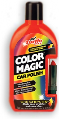 Turtle Wax Color Cure Complexion Magic Car Polish With Chipstick Red