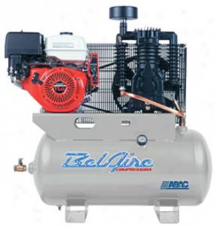Two-stage Air Compressor - 11hp Gasoline Powered, 30 Gallon