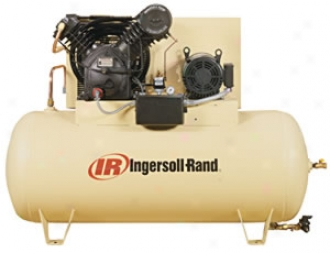 Type-30 Electric-driven Air Compressor - 10hp, 120-gal Horizontal - Fully Packaged