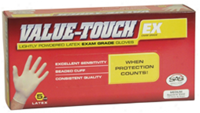 Value Touch Latex Gloves - Large
