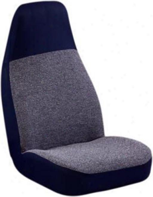 Value Tweed Blue High-back Bucket Fix Conceal