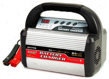 Vector 2/10/30 Amp Battery Charger With 80 Amp Booster