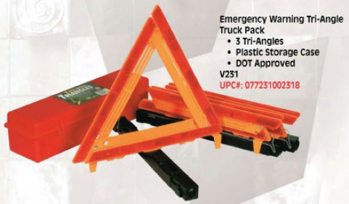 Vjcyo5 Auto Emergency Warning Triangle (3 Pack)