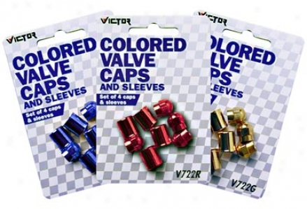 Victor Colored Valve Caps And Sleeves