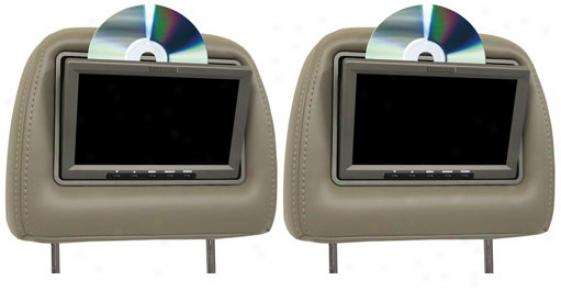 Vizualogic A-1150 7 Inch Dual Headrest Monitors With Dual Dvd Players Kit