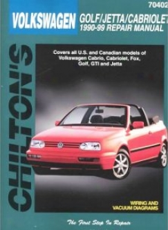 Volkswagen Cabriolet/fox/golf/jetta (1990-98) Chilton Manual