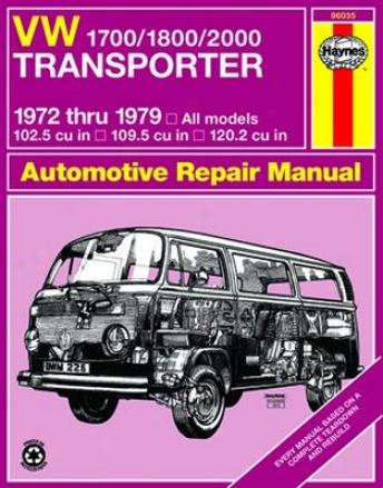 Vw 1700/1800/2000 Transporter Haynes Repair Manual (1972 - 1979)
