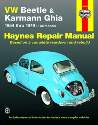 Vw Beetle & Karmann Ghia Haynes Repair Manual (1954-1979)
