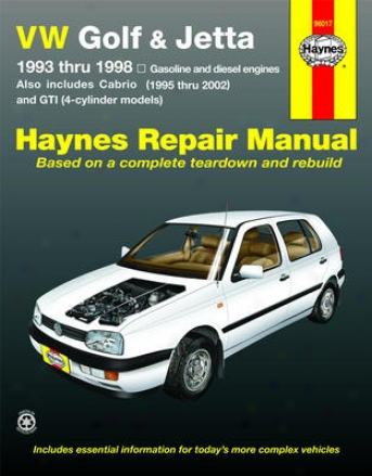 Vw Golf, Gti & Jetta (1993-1998) & Va Cabrio (1995-2002) Haynes Repair Of the hand